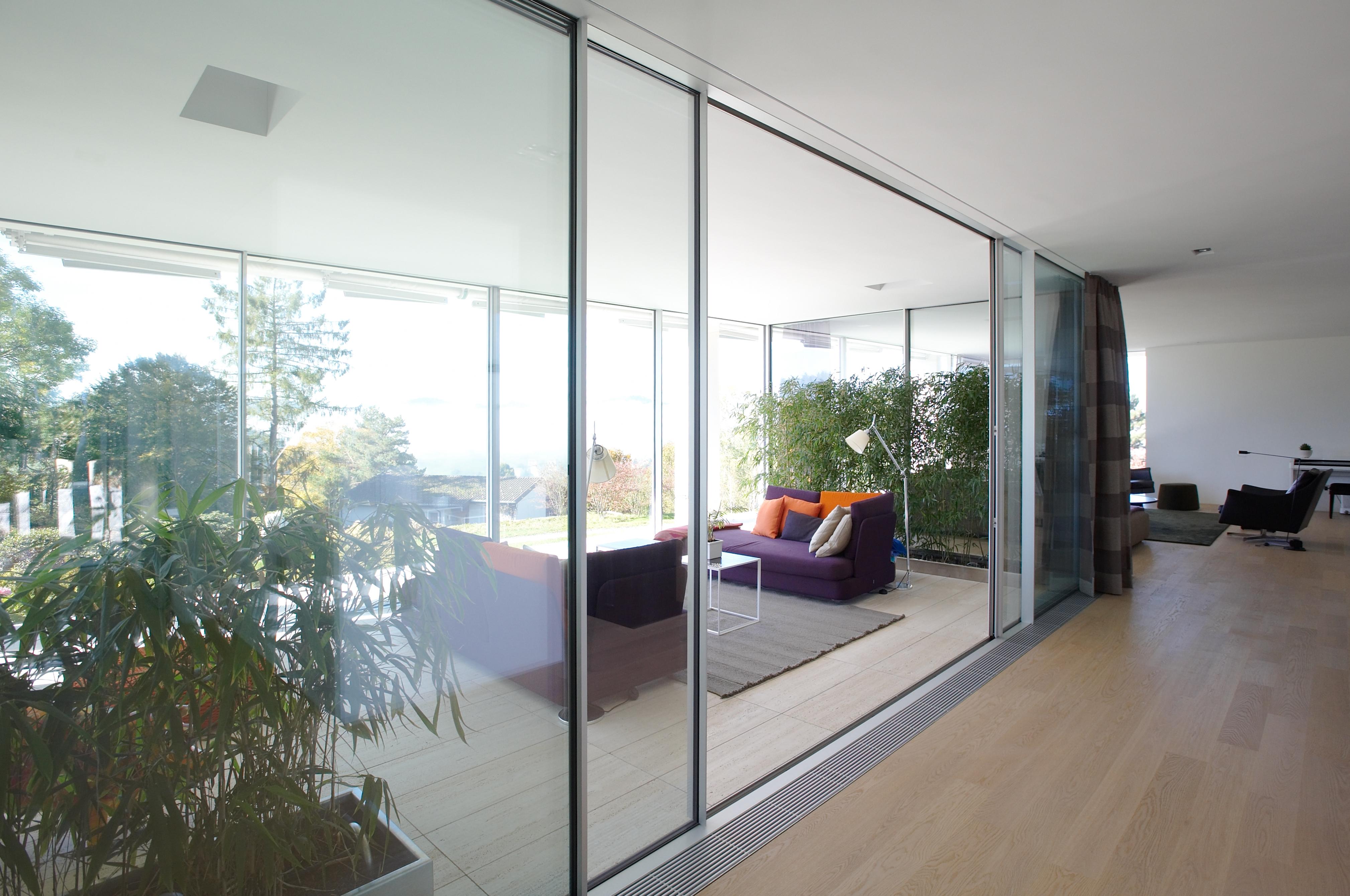 Einfamilienhaus Glasfassade sky frame 1 dover windows